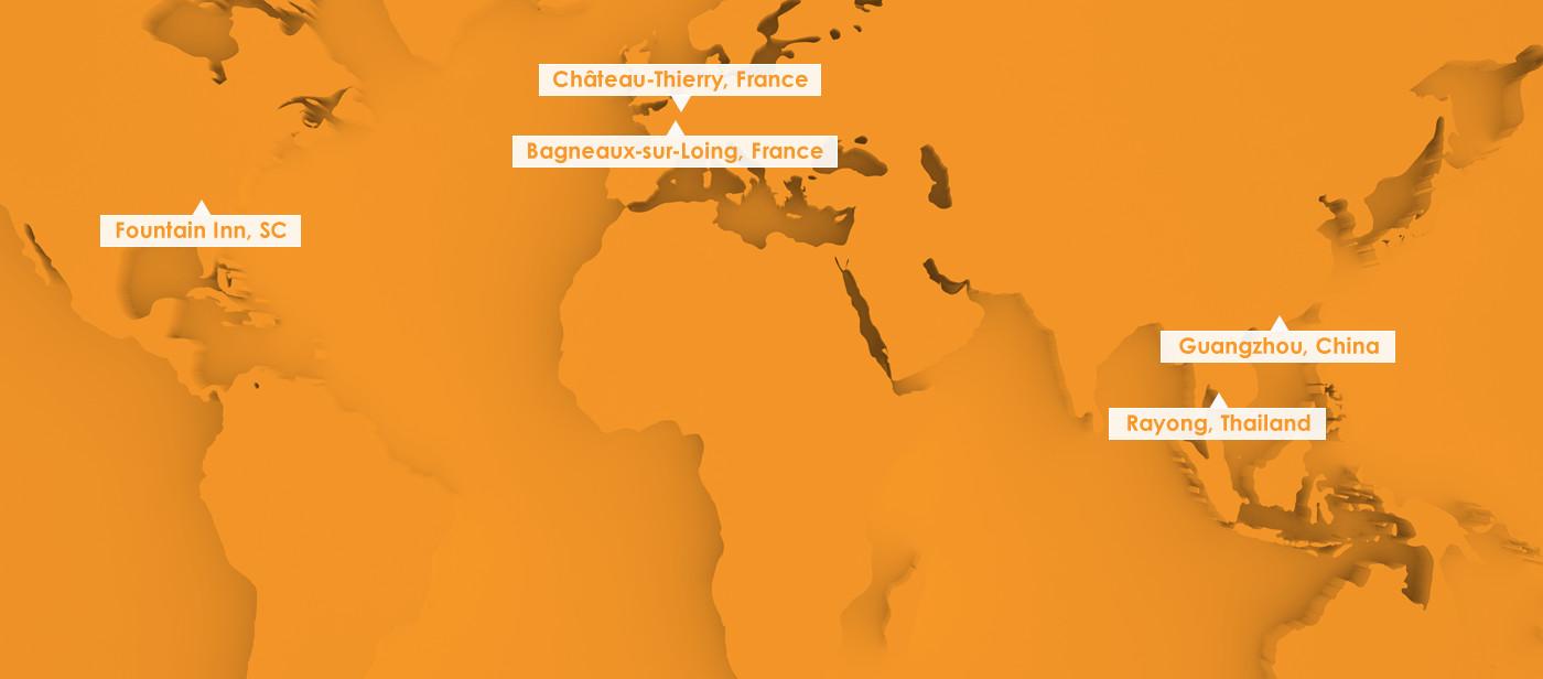 EuroKera Worldwide Locations Map