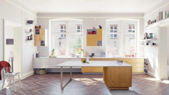 现代欧凯厨房,灶面别具一格。