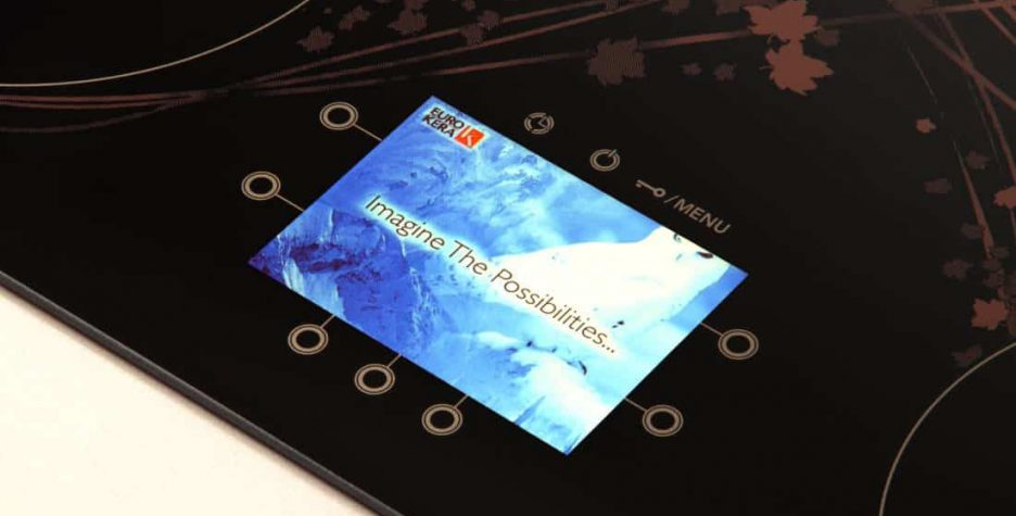 Glass-ceramic cooking surfaces feature LCD screens: KeraVision cooking surface pictured.